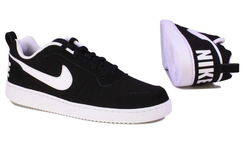 Suave Shoes - Nike Court Borough Sneakers in Black and White