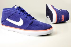 Suave Shoes - Nike Suketo Boots in Blue, Orange and White